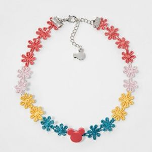NWT Girls' Disney Mickey Mouse Floral Necklace